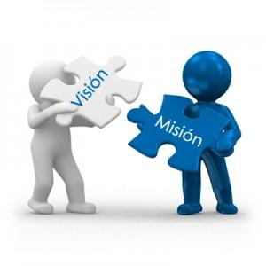Concepto de Misión y Visión. Ilustración.