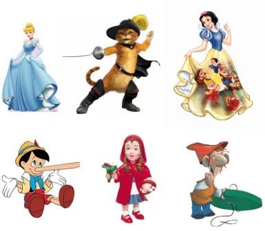 (Personajes de cuentos tradicionales.)