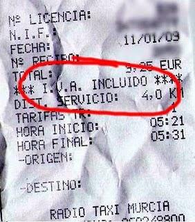 (Ticket de compra con IVA incluído en el monto final.)