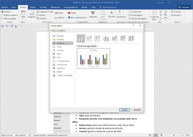 microsoft word - captura de pantalla