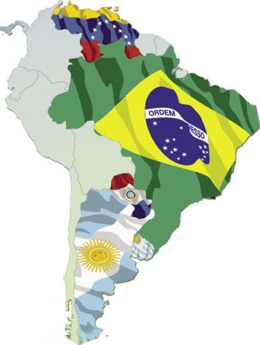 (Mapa de países del Mercosur.)