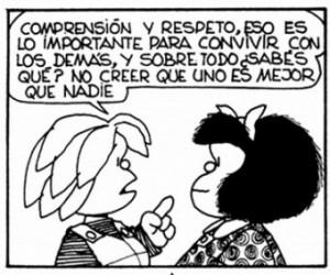 (Mafalda sobre la importancia del respeto.)