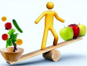 (El nutricionista planifica dietas variadas)