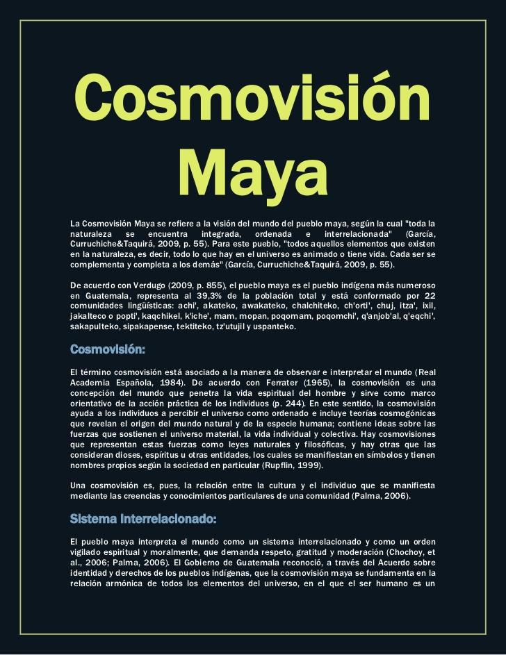(Cosmovisión maya.)