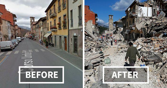 terremoto - antes y despues