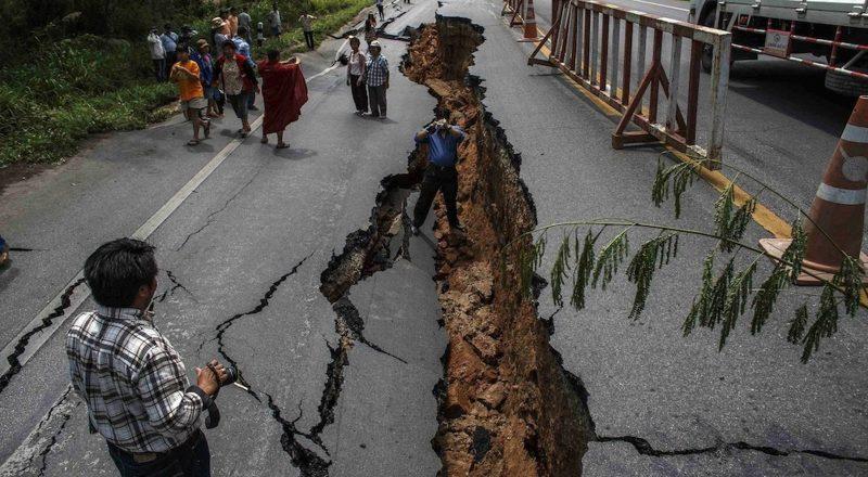 terremoto - ruta