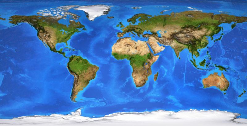 Continente Concepto Cantidad De Continentes Y Océanos
