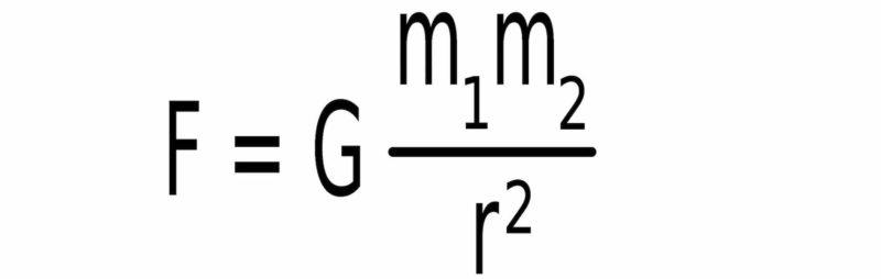 Ley de Gravitación Universal formula