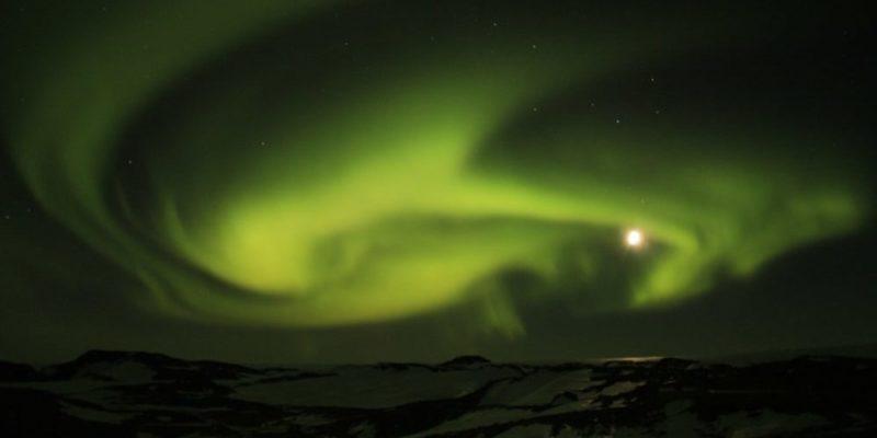 aurora boreal polar austral antartida