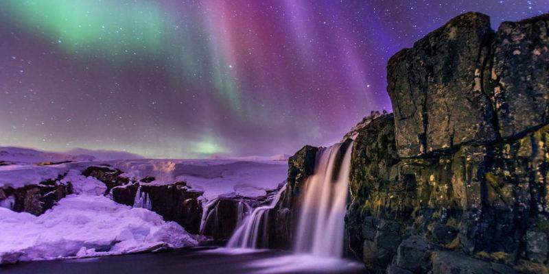 aurora boreal polar islandia Kirkjufellsfoss