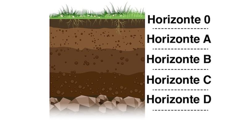 capas del suelo estratos