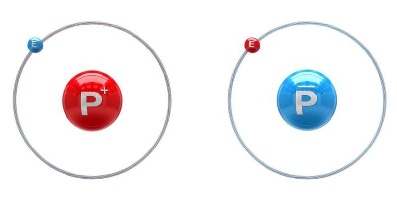 antimateria atomo hidrogeno