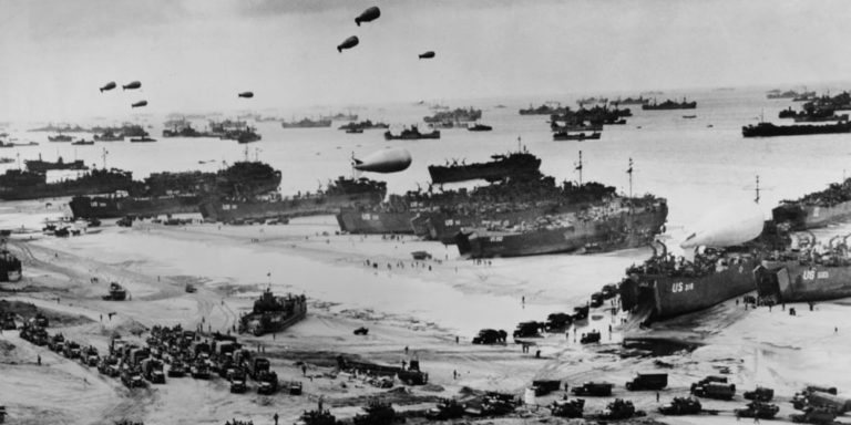 guerras mundiales desembarco de normandia 1945