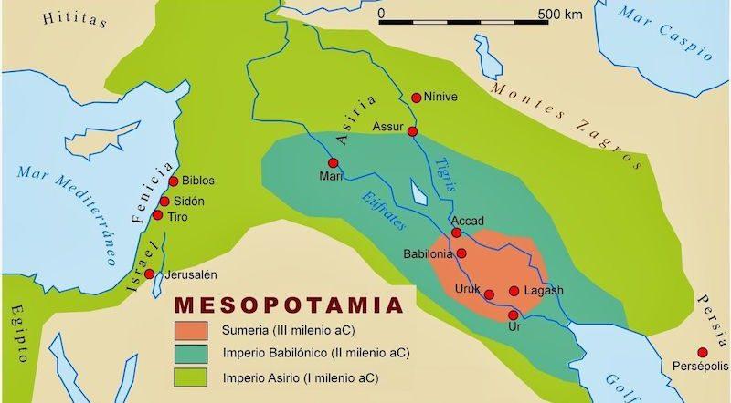 mesopotamia mapa