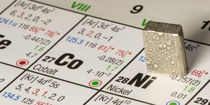 niquel metal elemento