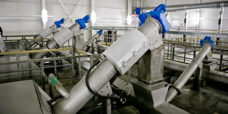 tratamiento de aguas residuales tamizado de sólidos