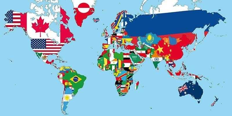 geografia politica mapa mundial