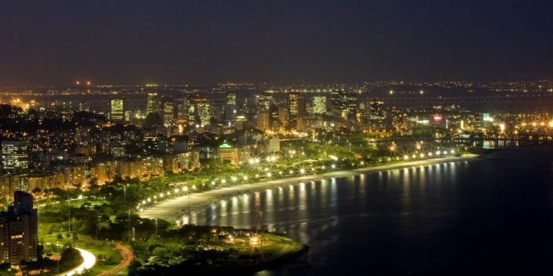 latinoamerica america latina poblacion ciudad rio de janeiro panoramica noche