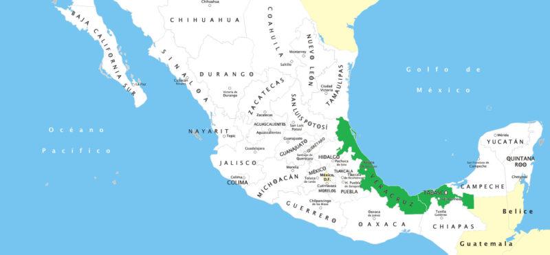 mapa de los olmecas