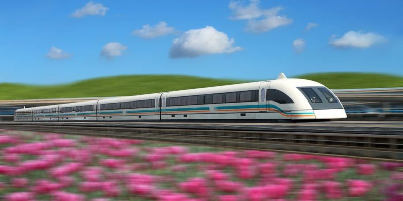 transporte ferroviario tren levitacion magnetica