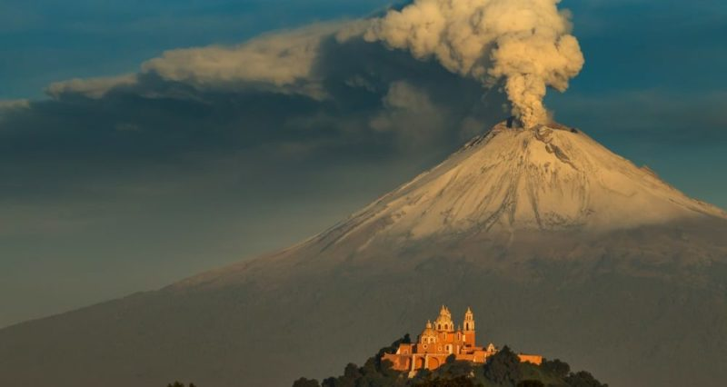 Popocatépetl volcan cholula puebla mexico