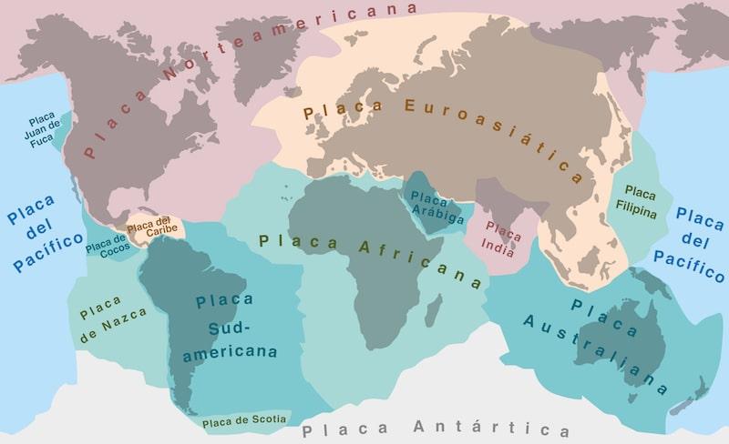 placas tectonicas mapa