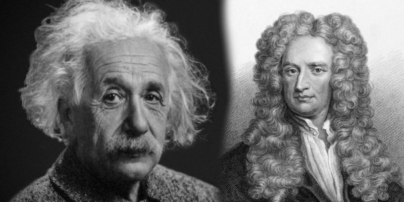 espacio fisica einstein newton relatividad