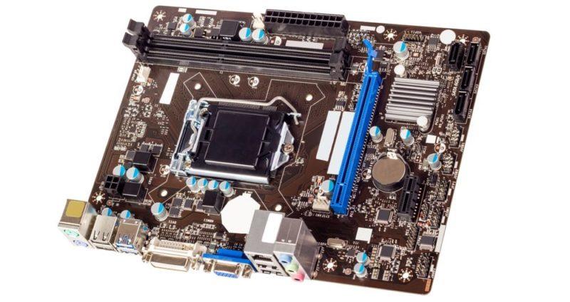 partes internas de una computadora mother board