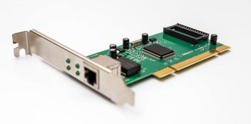 partes internas de una computadora placa de red