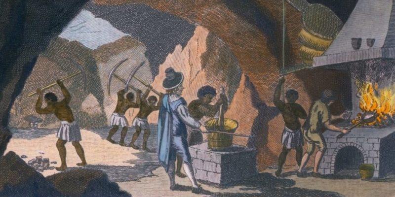 colonialismo peru materias primas esclavos
