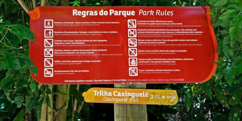 reglamento ejemplo parque