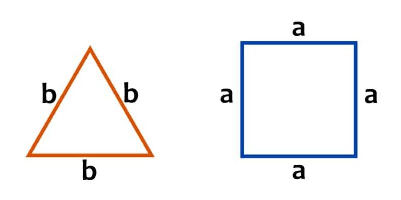 perimetro cuadrado triangulo