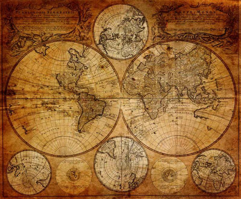 planisferio 1746 Johann Baptist Homann