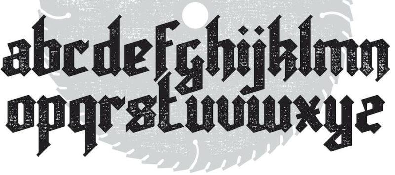 tipografia gotica