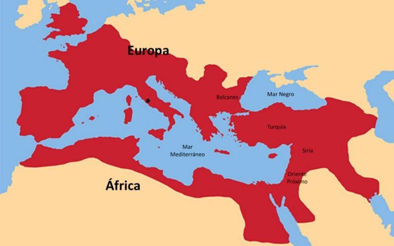 imperio romano mapa ubicacion