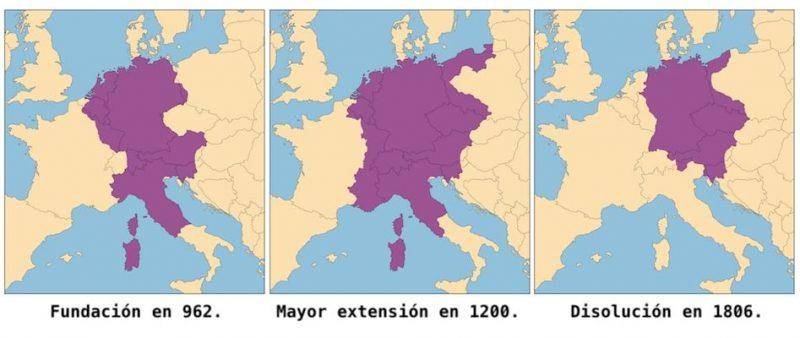sacro imperio romano germanico-mapa