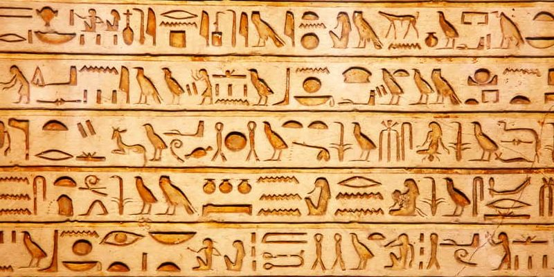 escritura tipos jeroglifico