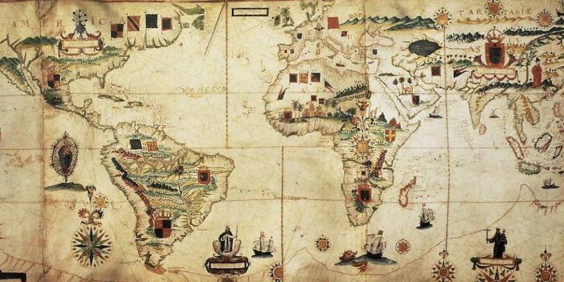 colonizacion española mapa