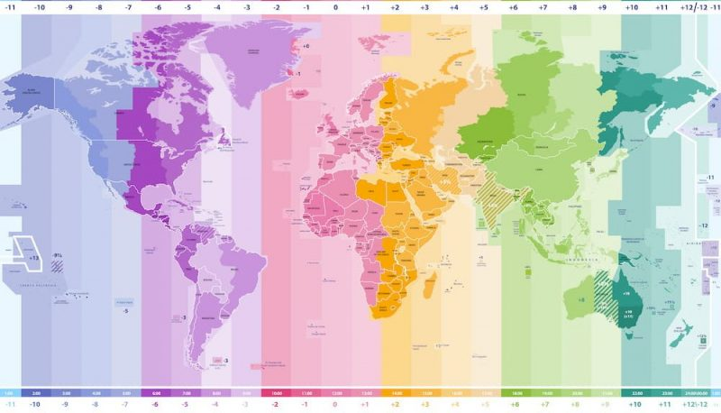 tipos de mapas husos horarios