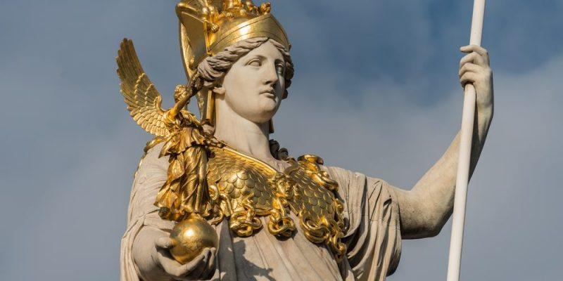 dioses griegos de la Antigüedad atenea