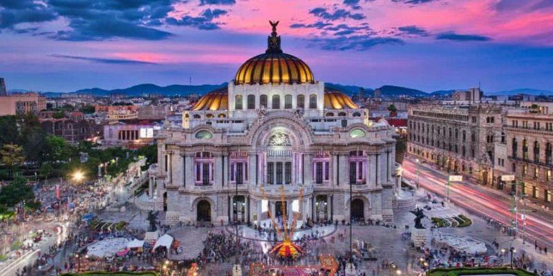 art nouveau ciudad de mexico palacio de bellas artes