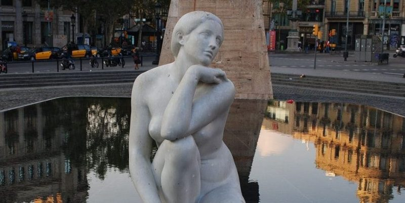 art nouveau escultura la diosa ayats