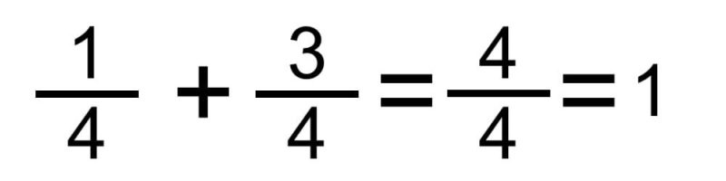 suma fracciones mismo denominador 2