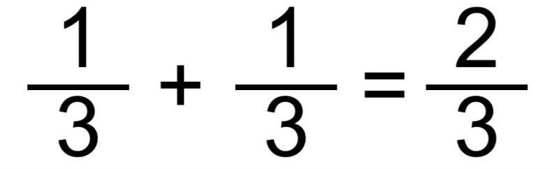suma fracciones mismo denominador