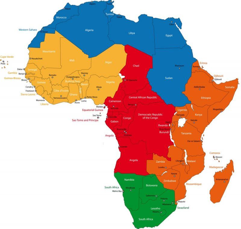 regiones continentales africa