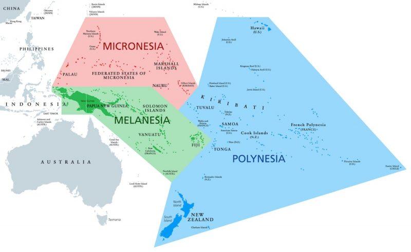 regiones continentales de oceania