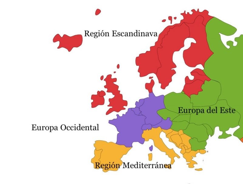 regiones continentales europa